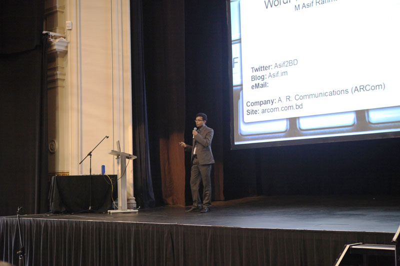 Asif Speaking at WordCamp Melbourne